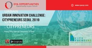Urban Innovation Challenge: Citypreneurs Seoul 2019