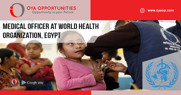 Medical Officer Jobs at WHO, Egypt