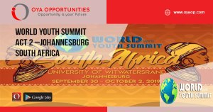 World Youth Summit Act 2 –Johannesburg South Africa