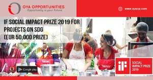 iF Social Impact Prize 2019 for Projects on SDG (EUR 50,000 prize)