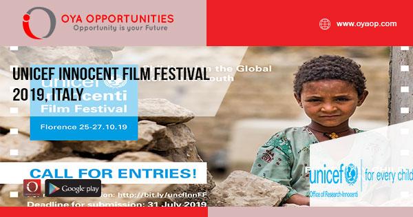 UNICEF Innocent Film Festival 2019, Italy - OYA Opportunities   OYA