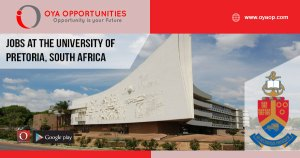 Academic jobs at the University of Pretoria, South Africa