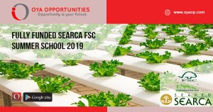 Fully Funded SEARCA FSC Summer School 2019,