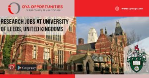 Research jobs at the University of Leeds, United Kingdoms