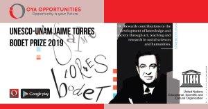 UNESCO-UNAM Jaime Torres Bodet Prize 2019