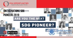 United Nations SDG Pioneers 2019