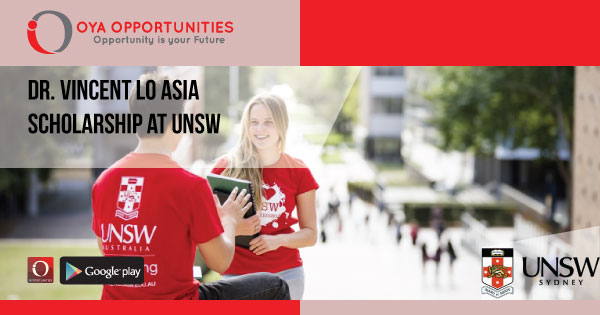 Dr. Vincent Lo Asia Scholarship at UNSW
