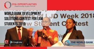 World Bank Development Solutions Contest for Law Students 2019