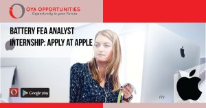 Battery FEA Analyst Internship | Apply at Apple