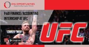 Paid Finance/Accounting Internship at UFC