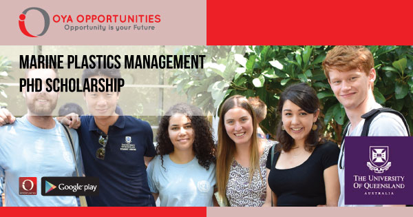 Marine Plastics Management PhD Scholarship