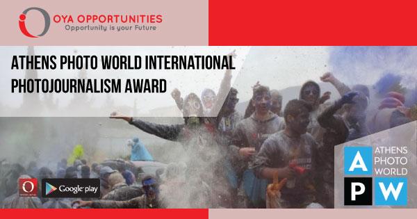 Athens Photo World International Photojournalism Award