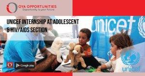 UNICEF Internship at HIV/AIDS & Adolescent Section