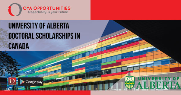 University of Alberta Doctoral Scholarship (Partially Funded)