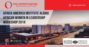 Africa America Institute Alidou African Women in Leadership Workshop 2019