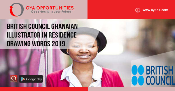 British Council Ghanaian Illustrator in Residence- Drawing Words 2019