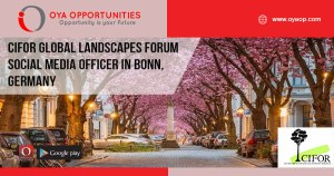 CIFOR Global Landscapes Forum Social Media Officer in Bonn, Germany