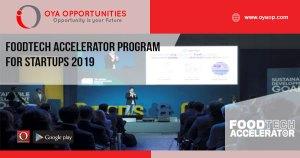 FoodTech Accelerator Program for Startups 2019