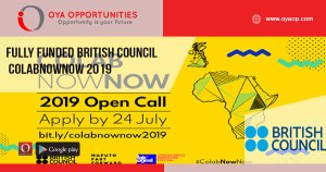 Fully Funded British Council ColabNowNow 2019