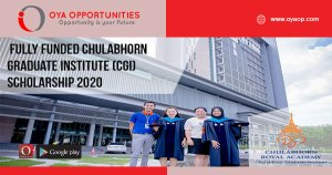 Fully Funded Chulabhorn Graduate Institute (CGI) Scholarship 2020