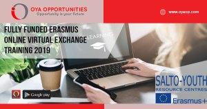 Fully Funded Erasmus Online Virtual Exchange Training 2019