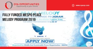 Fully Funded MESPO Peace Melody Program 2019