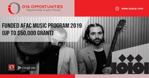 Funded AFAC Music Program 2019 (up to $50,000 Grant)
