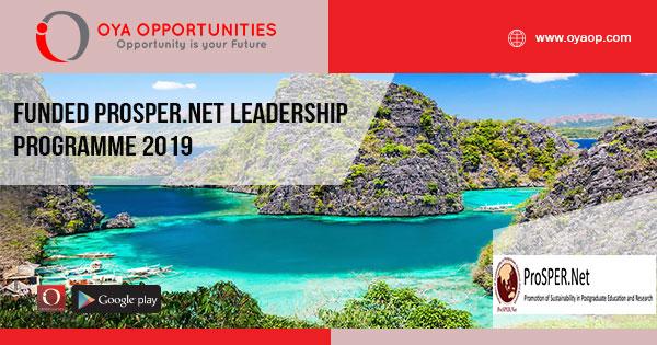 Funded ProSPER.Net Leadership Programme 2019