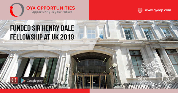 Funded Sir Henry Dale Fellowship at UK 2019