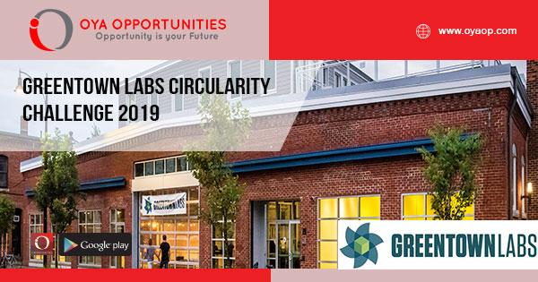 Greentown Labs Circularity Challenge 2019