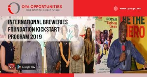 International Breweries Foundation Kickstart Program 2019