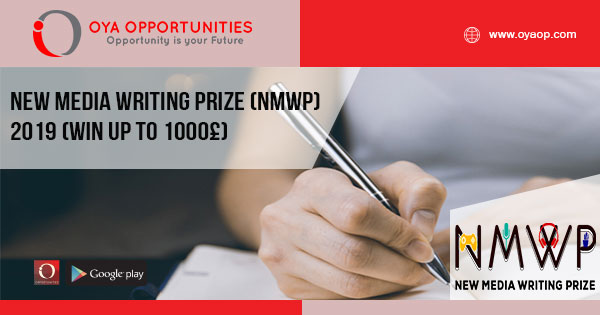 New Media Writing Prize (NMWP) 2019 (Win up to 1000£)