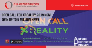 Open Call for XReality 2019 NCM (win up to 5 million KRW)