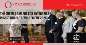The Queen's Awards for Enterprise in Sustainable Development 2020