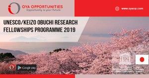 UNESCO/Keizo Obuchi Research Fellowships Programme 2019