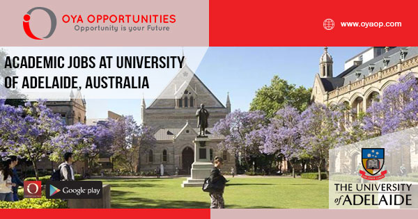 Academic Jobs at University of Adelaide