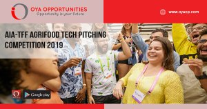 AIA-TFF AgriFood Tech Pitching Competition 2019