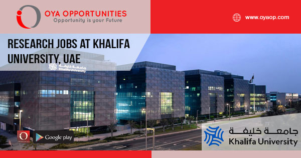 Research jobs at Khalifa University, UAE