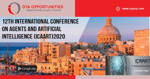 12th International Conference on Agents and Artificial Intelligence (ICAART)2020