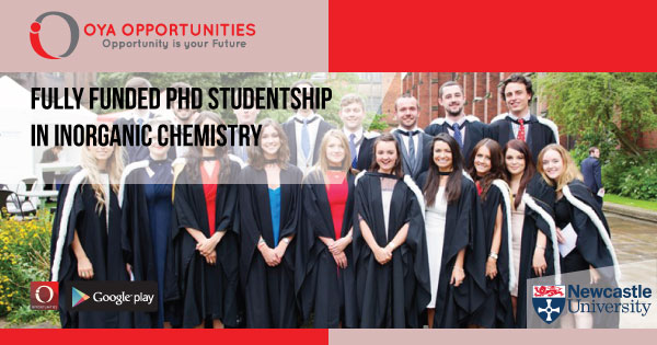 Fully Funded PhD Studentship In Inorganic Chemistry