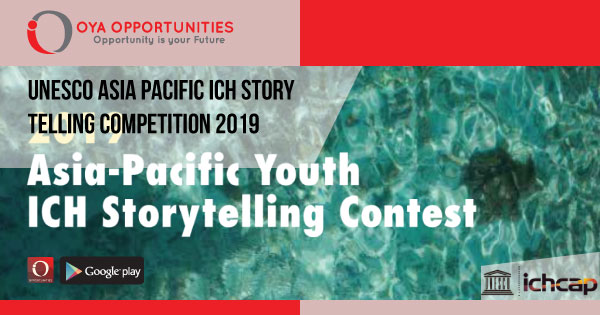 UNESCO Asia Pacific ICH Storytelling Competition 2019