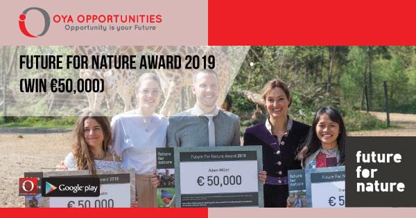 Future for Nature Award 2019 (win €50,000)