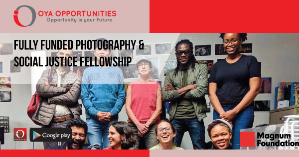Fully Funded Photography & Social Justice Fellowship