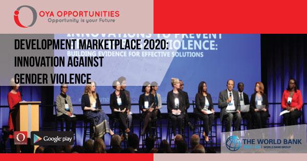Development Marketplace 2020: Innovation Against Gender Violence