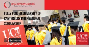 Fully Funded University of Canterbury International Scholarship
