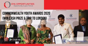Commonwealth Youth Awards 2020 (win cash prize & trip to London)