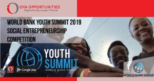 World Bank Youth Summit 2019 Social Entrepreneurship Competition