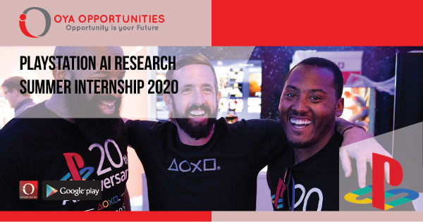 PlayStation AI Research Summer Internship 2020