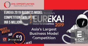 Eureka 2019 Business Model Competition (Win up to INR 5 Million)