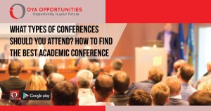 What types of conferences should you attend? How to find the best Academic Conference for you!